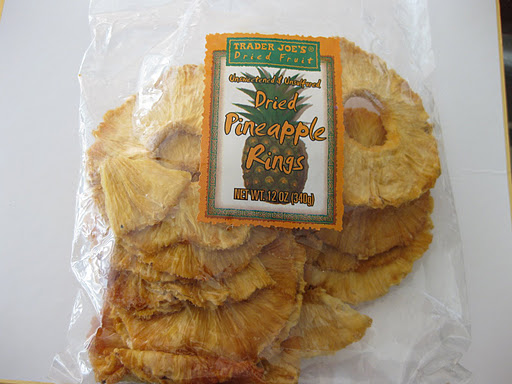 Unsweetened dried pineapple